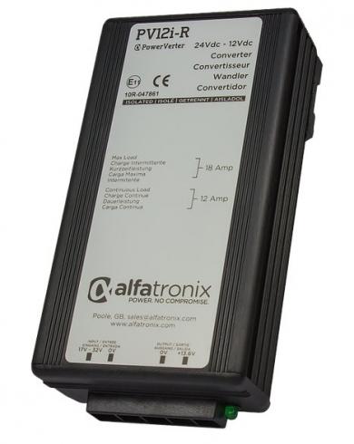 Měnič napětí pro vlaky a drážní vozidla Alfatronix PV12i-R