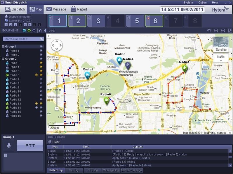Dispečerská aplikace Hytera SmartDispatch