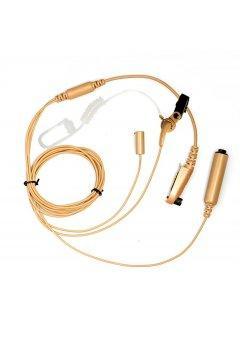 EAN06 skrytá třídílná hovorová souprava (béžová) pro vysílačky Hyt TC-700P a TC-780