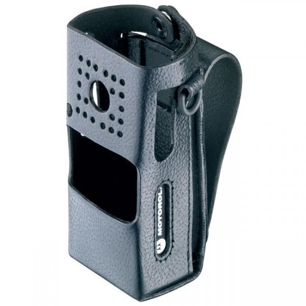RLN5640 kožené pouzdro na opasek pro vysilacky Motorola CP160 s okem na opasek