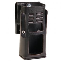 HLN9694 kožené pouzdro z tvrdé kůže s otočným závěsem pro radiostanice Motorola GP360 a GP380