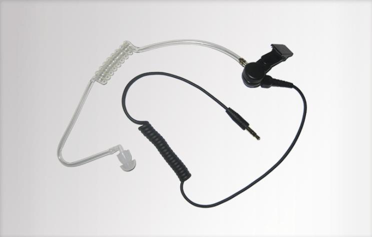 Sluchátko ES-02 s transparentním zvukovodem pro hovorové soupravy Hytera ACM-01,ACN-01 - 03