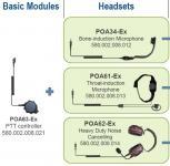 Náhlavní souprava s hrdelním mikrofonem POA61-Ex