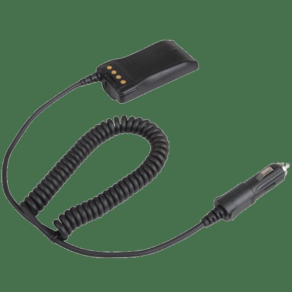 Napájecí kabel SAB04 12 V do vozidla, připojuje se místo akumulátoru (battery eliminator), pro digitální radiostanice Hytera PD785 a PD705
