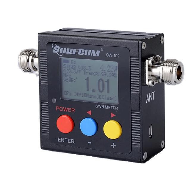 SW102 Digitální VHF/UHF Wattmetr & PSV-metr & frekvenční čítač