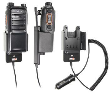 Držák Brodit pro digitální radiostanice Hytera řady PD7 pohled s radiostanici
