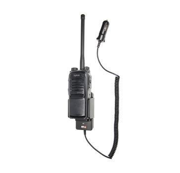 Držák Brodit pro digitální radiostanice Hytera řady PD7 celkový pohled s radiostanici