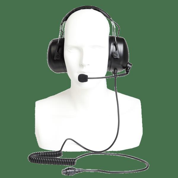 Těžká hovorová souprava ECA01  pro radiostanice Hytera MD785i a MT680 s potlačením hluku okolí.