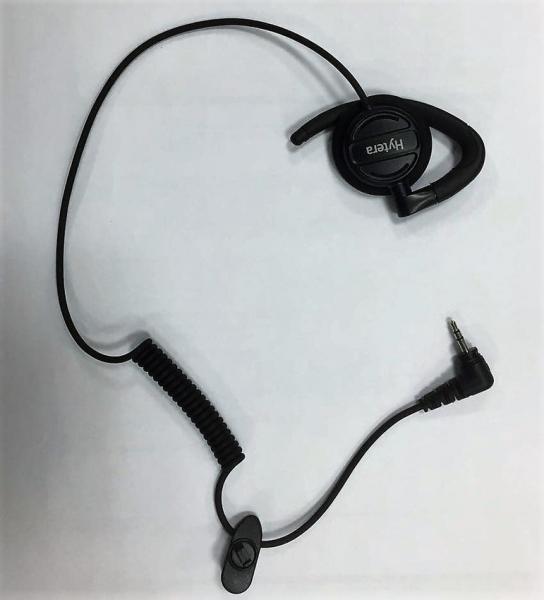 EHS17 otočné sluchátko D-typ (2,5mm jack)pro použití s externím mikrofony s reproduktorem vybavené konektorem jack