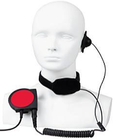 ELN08 velké PTT tlačítko s krkafonem a sluchátkem pro radiostanice Hytera řady PD7xx a PD985.