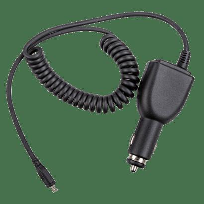 Nabpájecí adaptér micro-USB Hytera PV1002 pro nabíjení vysílaček Hytera serie PD3xx a BD305LF ve vozidlech.